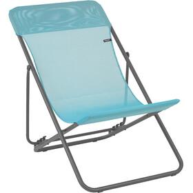 Lafuma Mobilier Maxi Transat - Siège camping - Batyline gris/Bleu pétrole